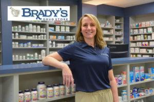 Heather with Brady's Drug Store logo